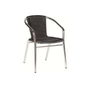 Aluminium weave arm chair