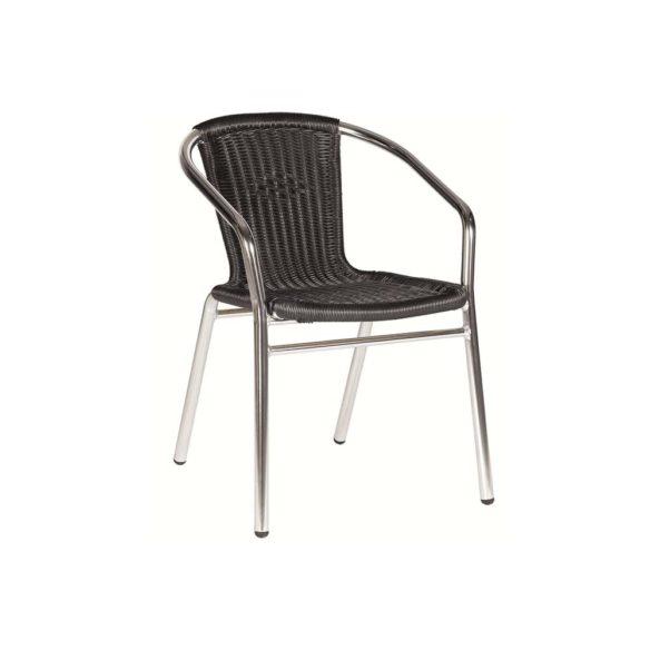 Aluminium weave arm chair