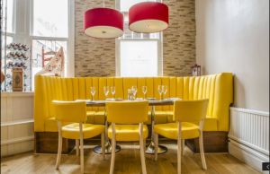 fixed banquette seating