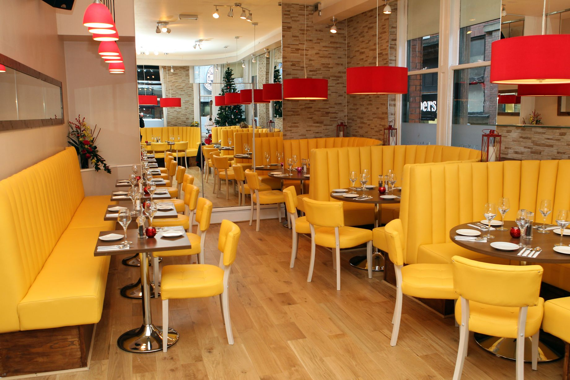 banquette seating in a restaurant