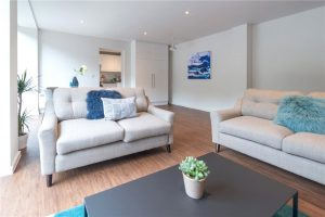 Longfield House luxury apartments bespoke sofa
