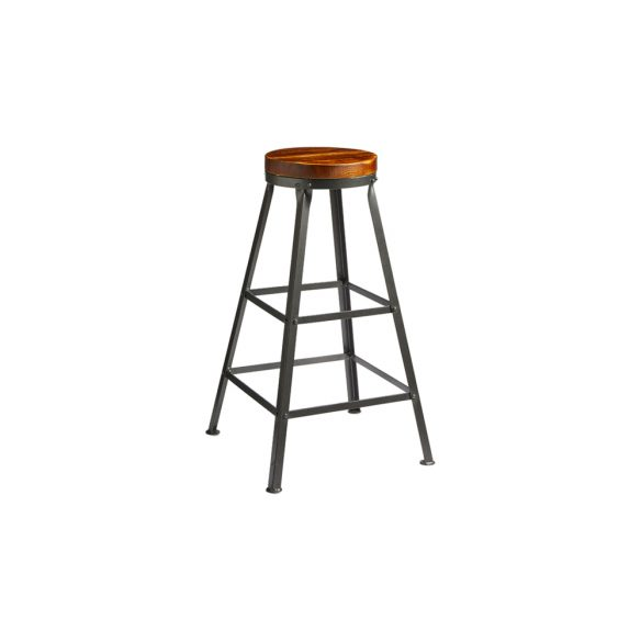 Mex Pine Wood Bar Stool