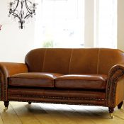 St Charles Leather Sofa