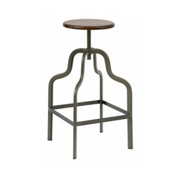 Factory Gunmetal Bar Stool