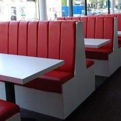 Fluted Back Banquette Seating
