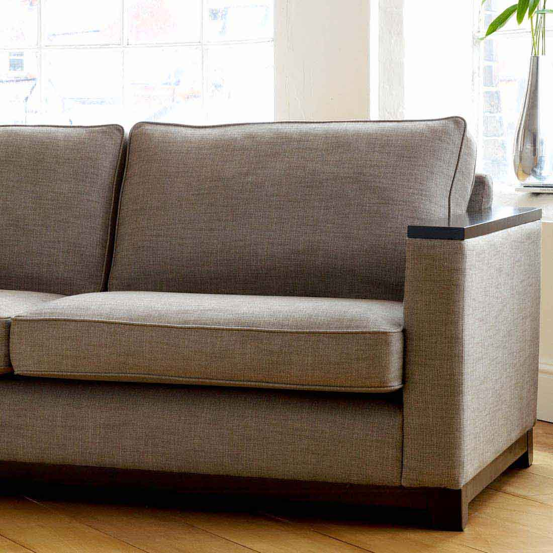 Mayfair Sofa Contemporary Brown Leather Sofa Chaise
