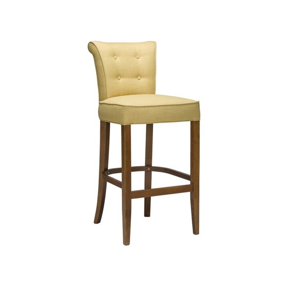 Pearl buttoned Bar Stool