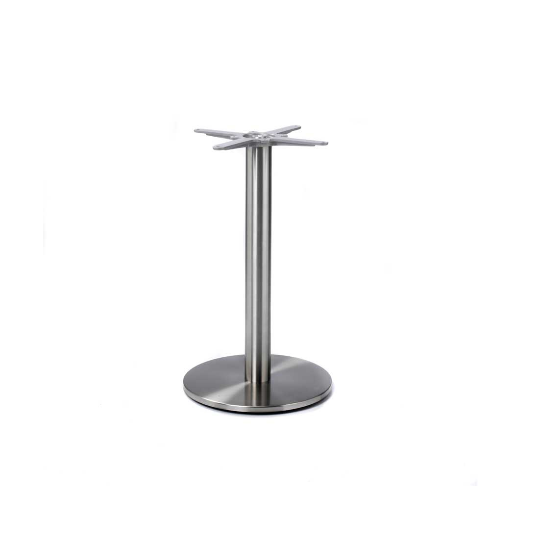 Profile Stainless Round Dining Table Base Forest Contract