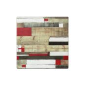 recycled red square outdoor table top