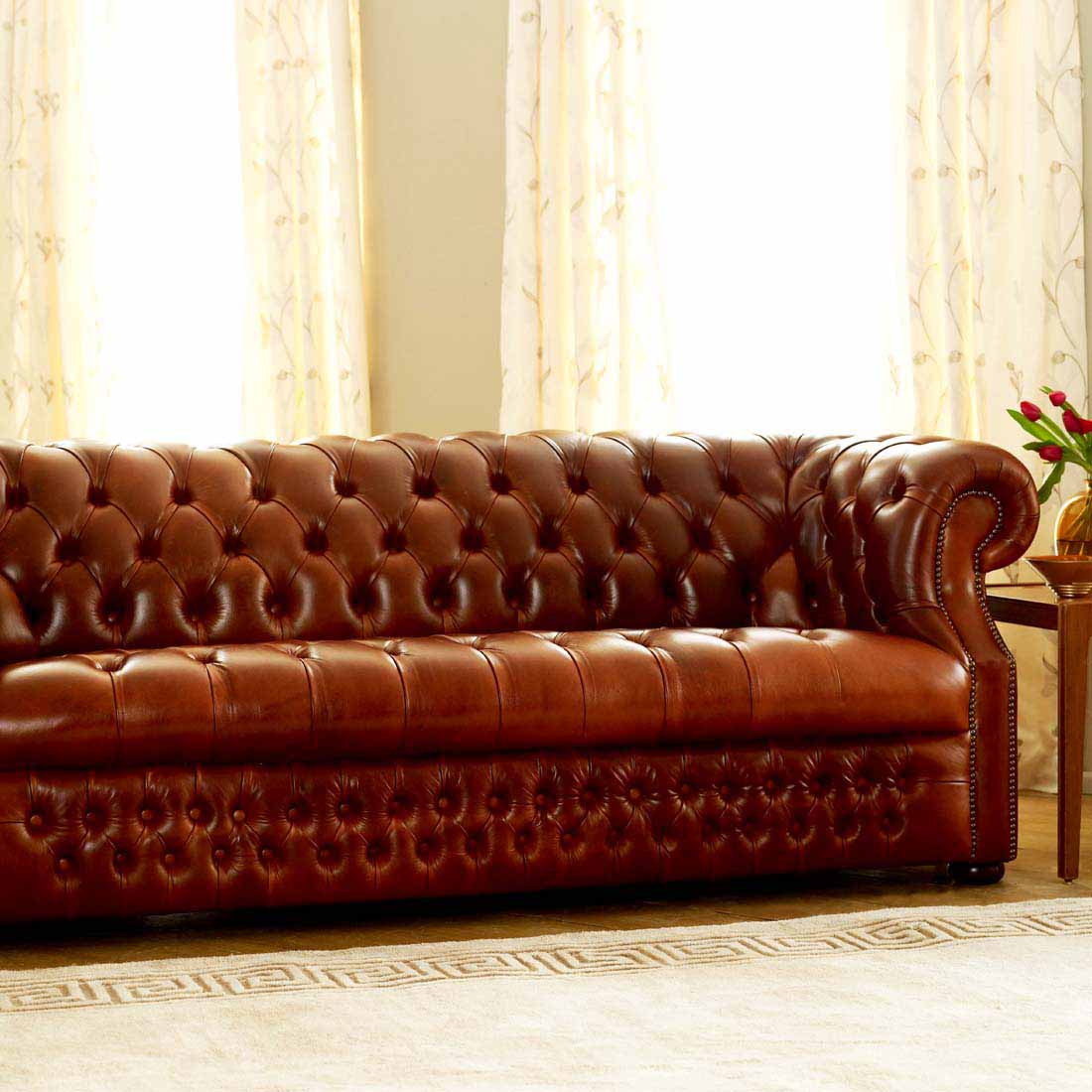 Richmond Buttoned Seat 3 Seater Sofa - Forest Contract
