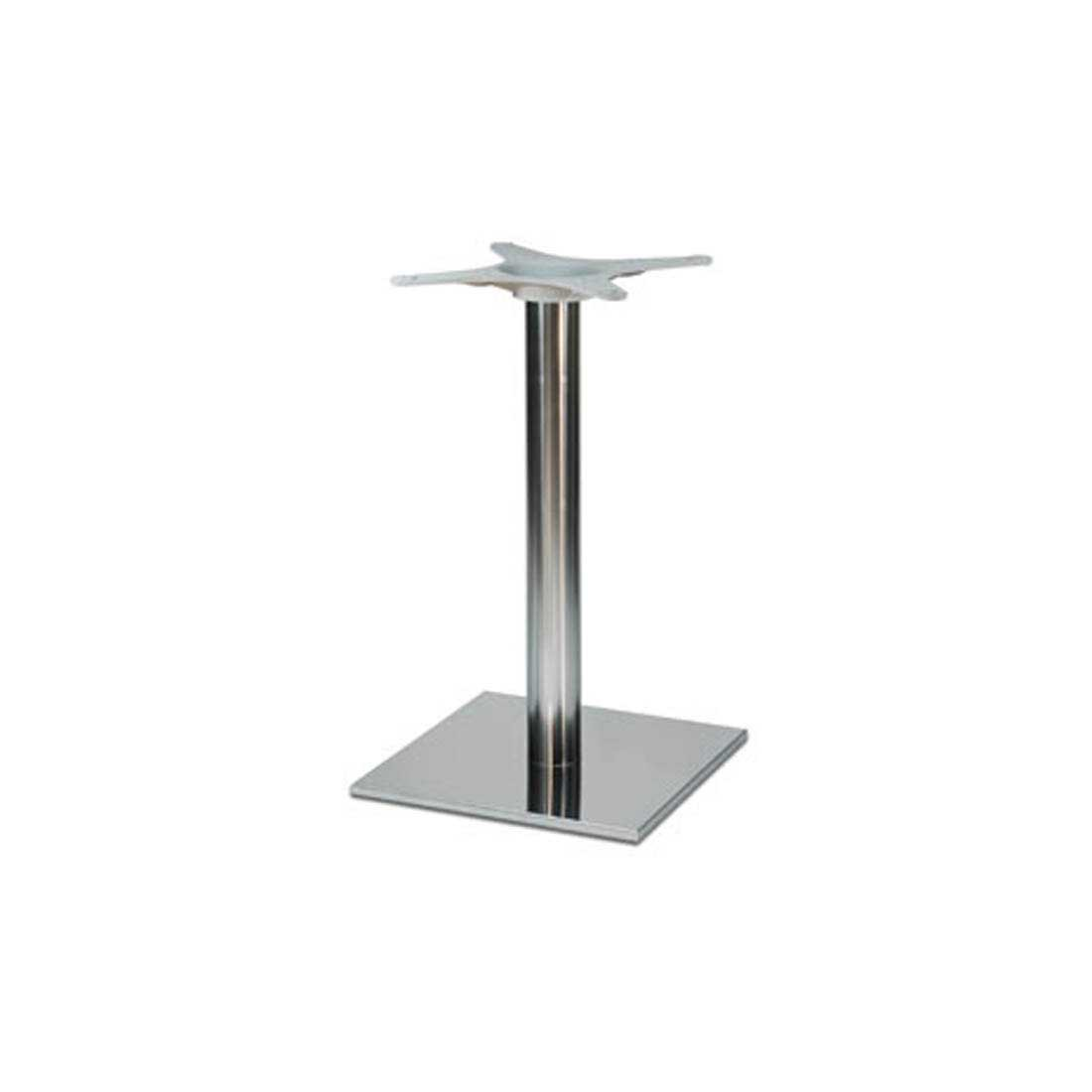 chrome dining table base -  square chrome dining table base