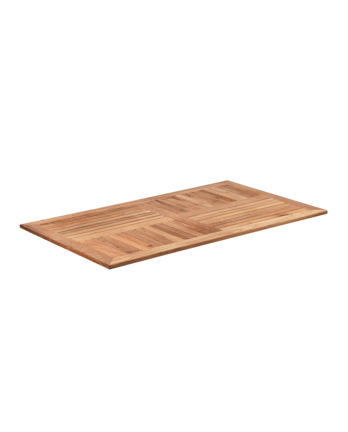 Teak 1400x700mm Rectangular Table Top - Forest Contract