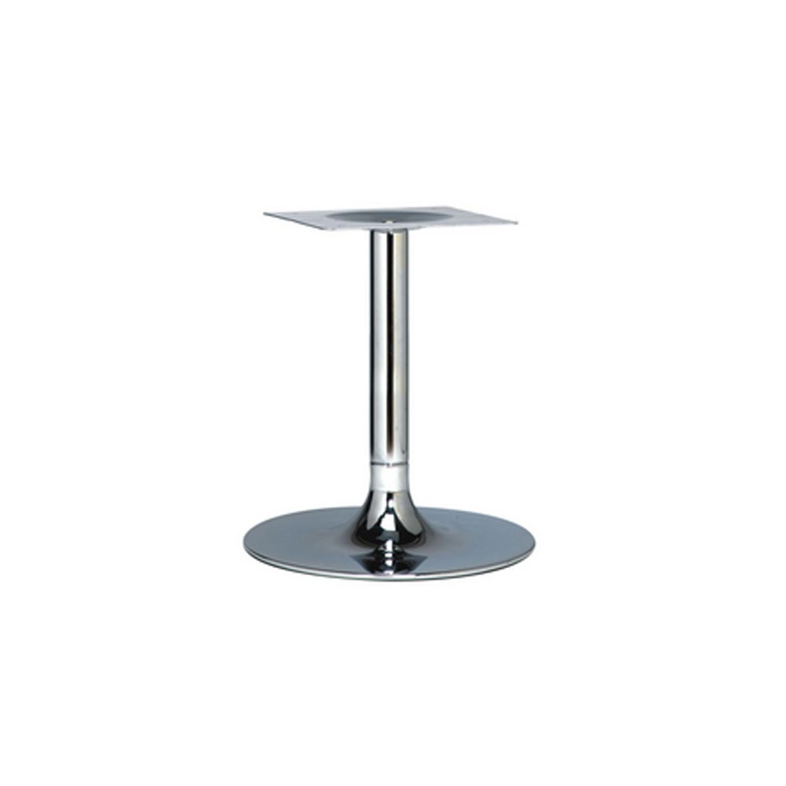 Trumpet Small Chrome Coffee Table Base Forest Contract