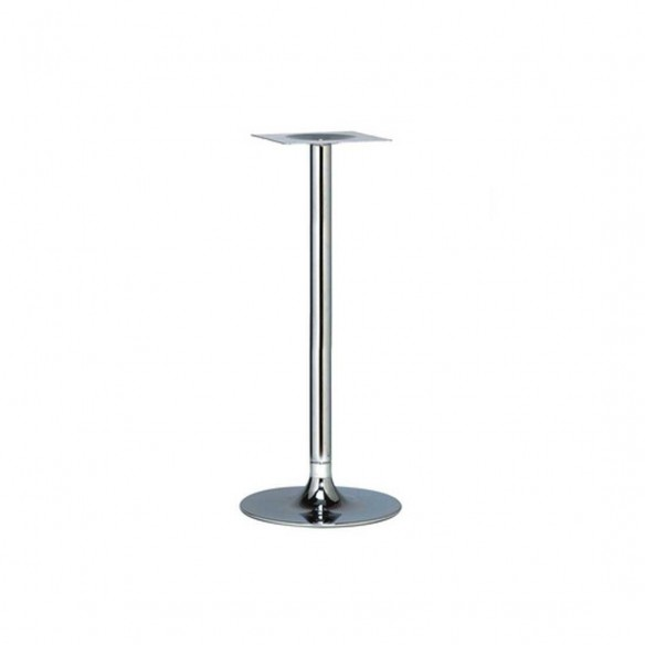 Trumpet Small Chrome Poseur Table Base