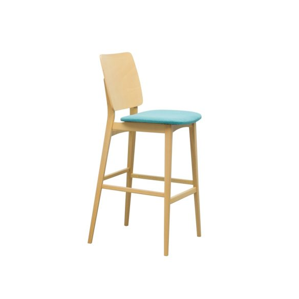 Zara Veneer Back Bar Stool